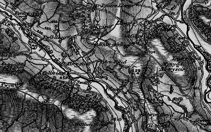 Old map of Tir-y-felin in 1898