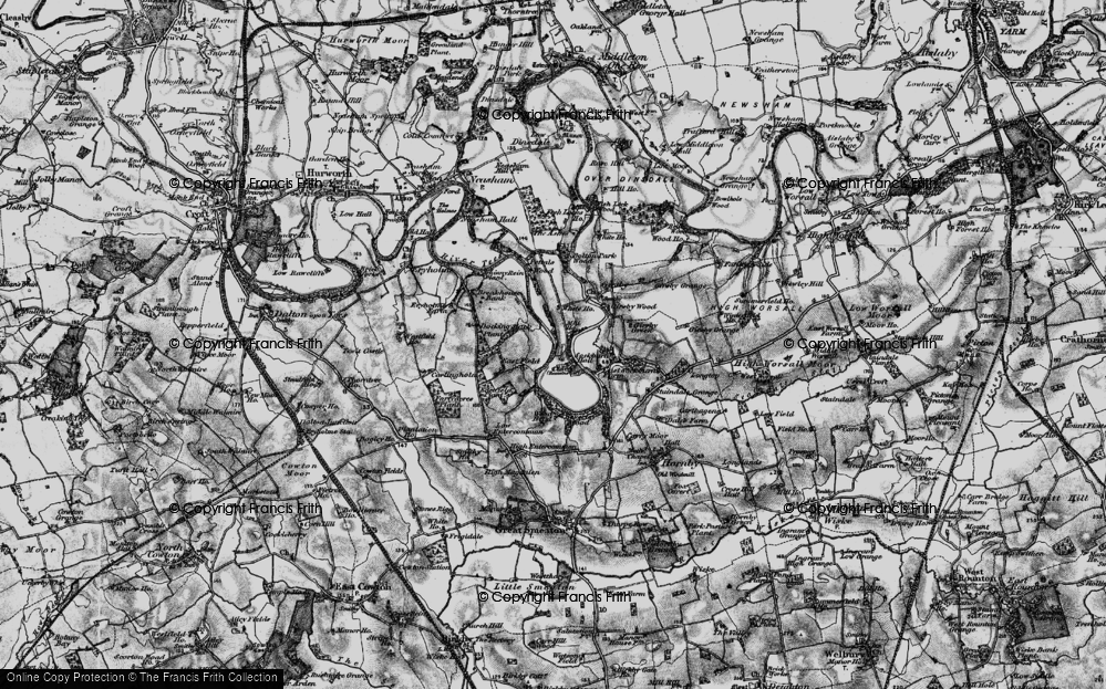 Old Map of Historic Map covering Wood Head in 1898