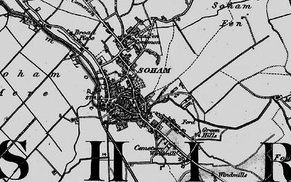 Old map of Soham in 1898