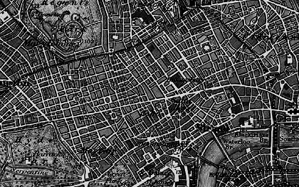 Old map of Soho in 1896