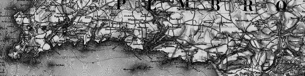 Old map of Solva in 1898