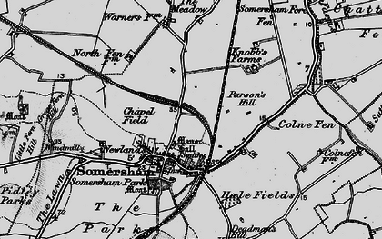 Old map of Somersham in 1898