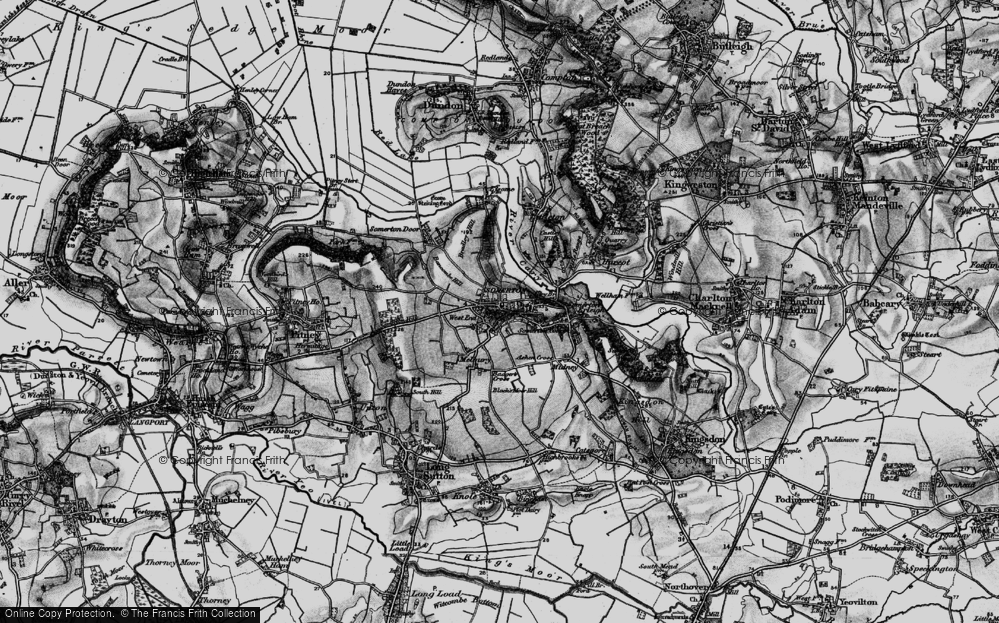 Old Map of Historic Map covering Badger's Cross in 1898