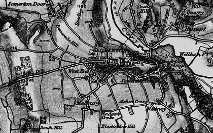 Old map of Ashen Cross in 1898