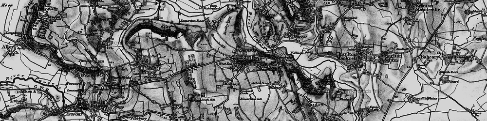 Old map of Somerton in 1898