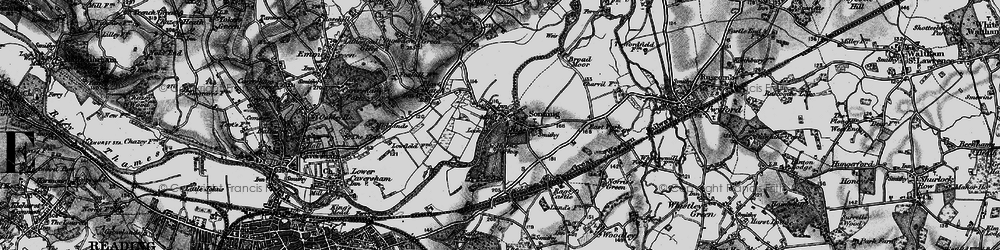 Old map of Sonning in 1895
