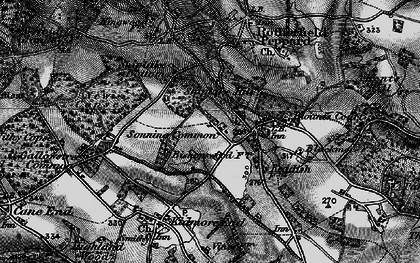 Old map of Sonning Common in 1895
