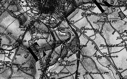 Old map of Sopwell in 1896