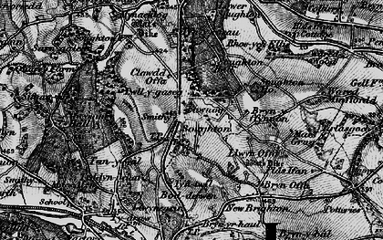 Old map of Soughton in 1896