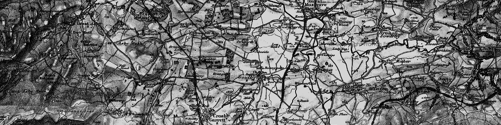 Old map of Wyber Hill in 1897