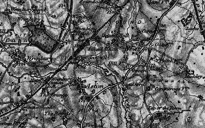 Old map of Woodcott Ho in 1897