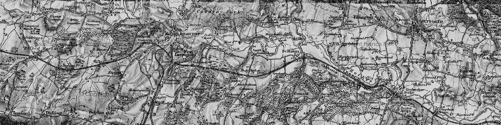 Old map of Ambersham Common in 1895