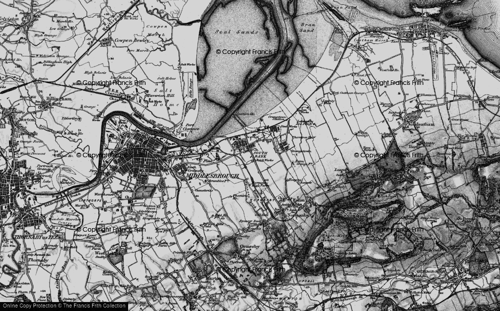 Old Map of Historic Map covering Yorkshire in 1898