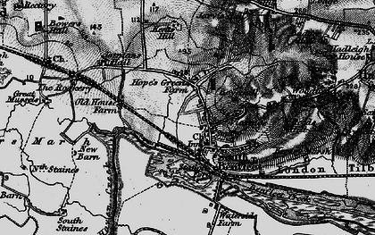 Old map of South Benfleet in 1896