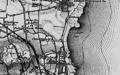 Old map of Whitburn Bay in 1898