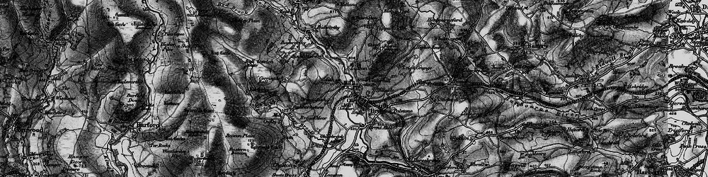 Old map of South Brent in 1898