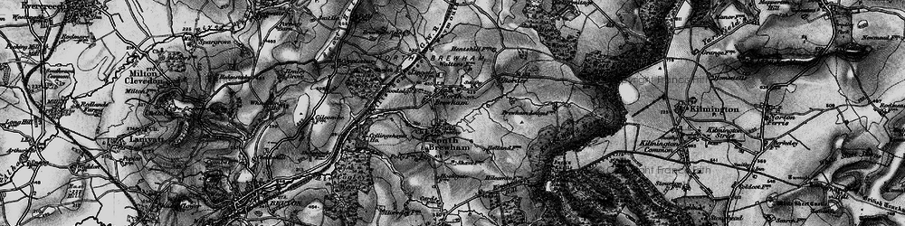 Old map of Alfred's Tower in 1898