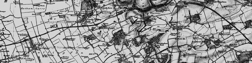 Old map of South Cave in 1895
