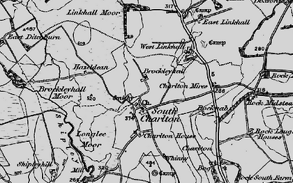 Old map of Linkhall Moor in 1897