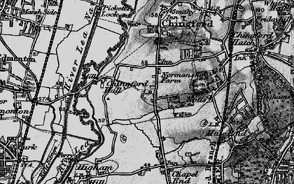 Old map of South Chingford in 1896