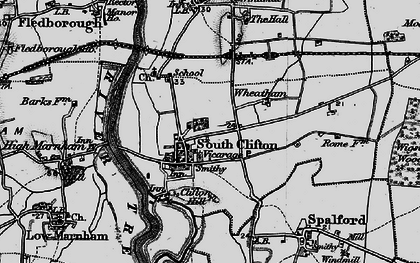Old map of Wheatholme in 1899