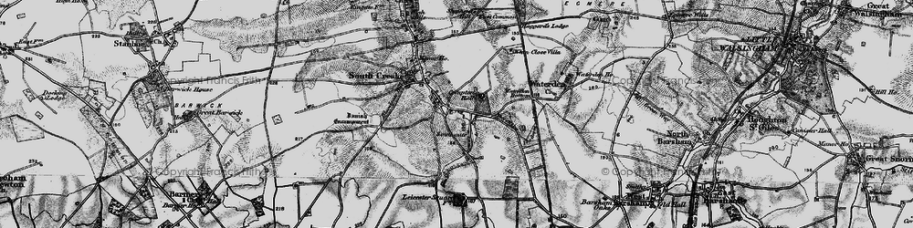 Old map of Whin Close Villa in 1898