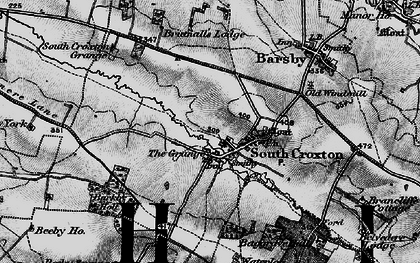 Old map of Barkby Holt in 1899