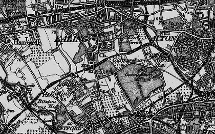 Old map of South Ealing in 1896