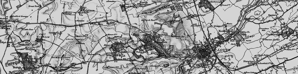 Old map of Ackthorpe Village in 1899