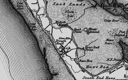 Old map of Wylock Marsh in 1897