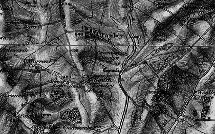 Old map of Whatcombe in 1895