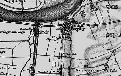 Old map of South Ferriby in 1895