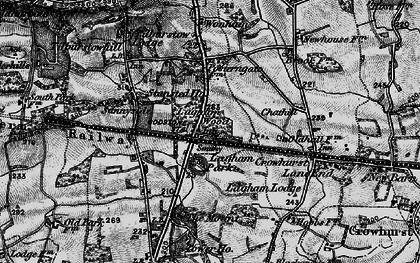 Old map of South Godstone in 1895