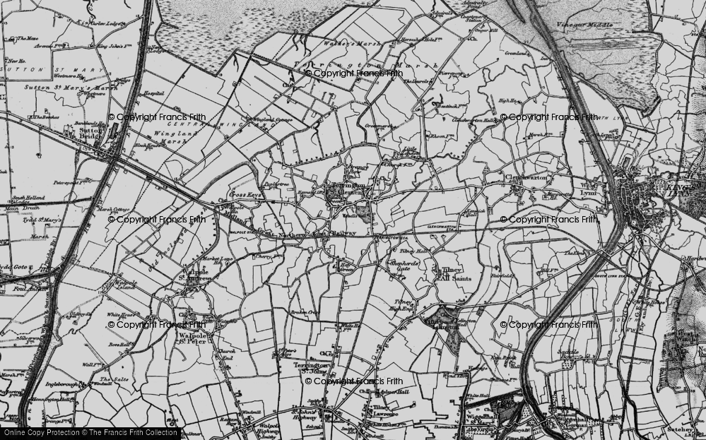 Old Map of Historic Map covering African Violet Centre in 1893