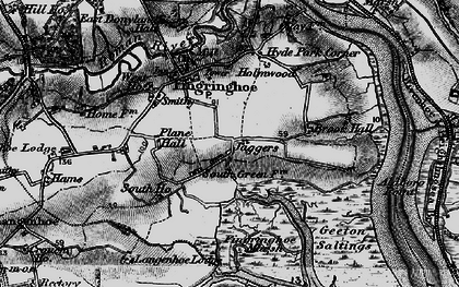 Old map of Langenhoe Marsh in 1896