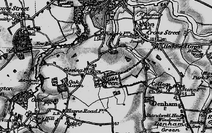 Old map of Admiral's Carr in 1898