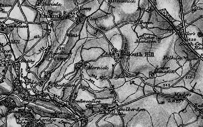 Old map of South Hill in 1896