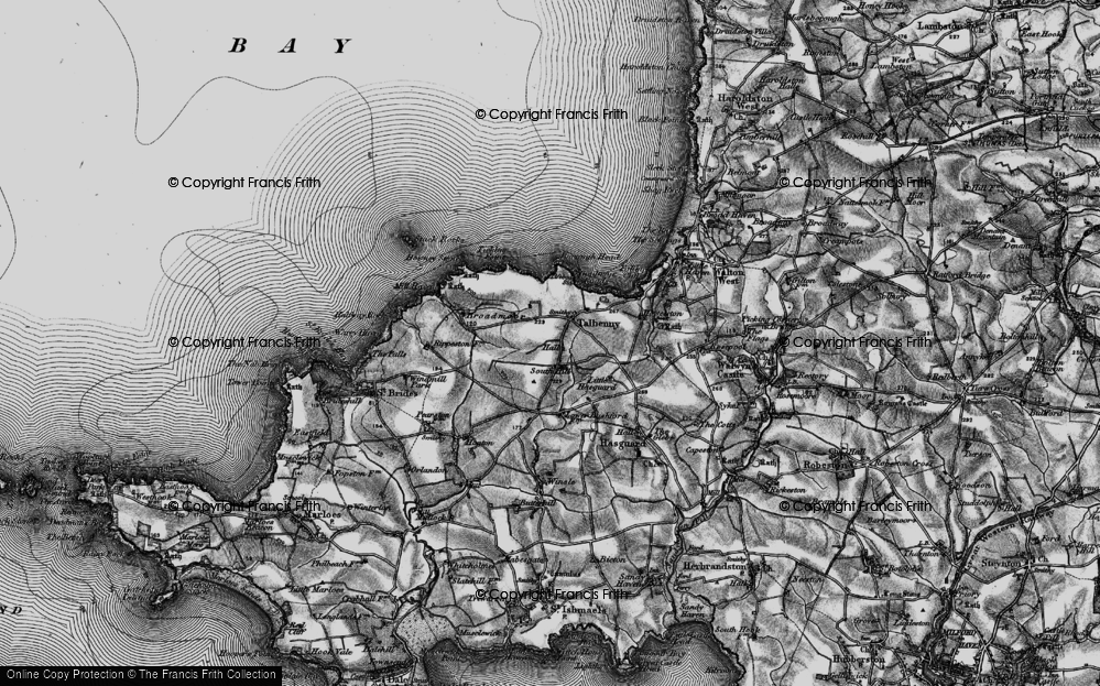 Old Map of Historic Map covering Ticklas Point in 1898