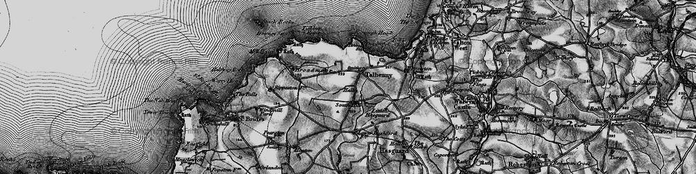 Old map of Ticklas Point in 1898
