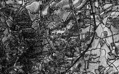 Old map of South Holmwood in 1896
