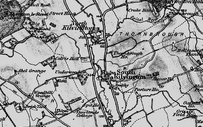 Old map of Abel Grange in 1898