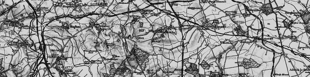 Old map of South Kirkby in 1896