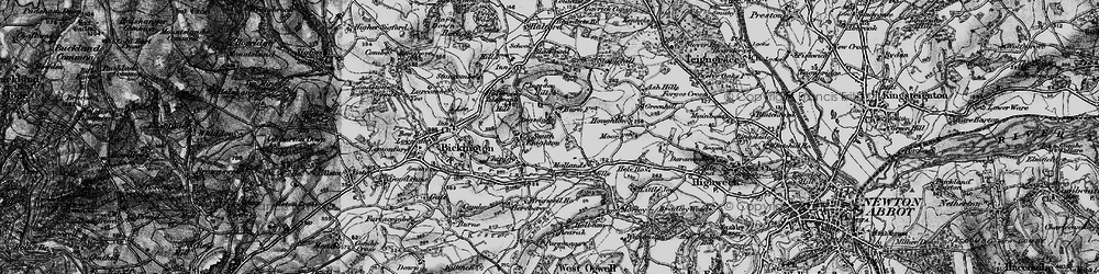 Old map of Wrigwell in 1898