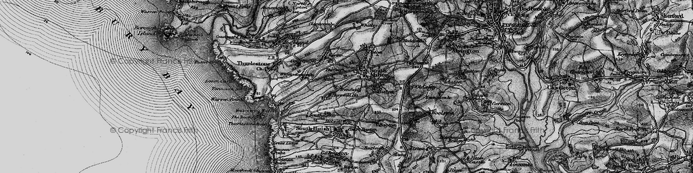 Old map of Whitlocksworthy in 1897