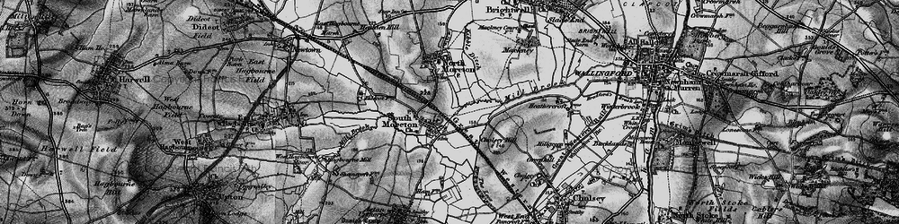 Old map of South Moreton in 1895