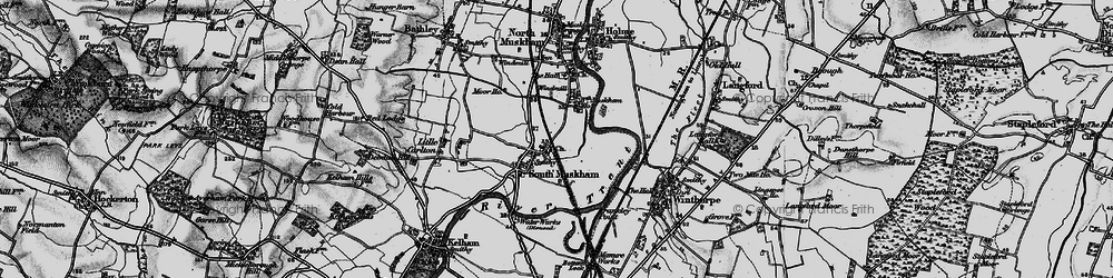 Old map of Winthorpe Lake in 1899