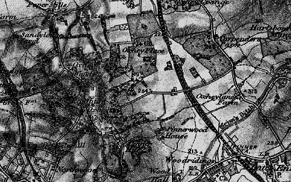 Old map of South Oxhey in 1896
