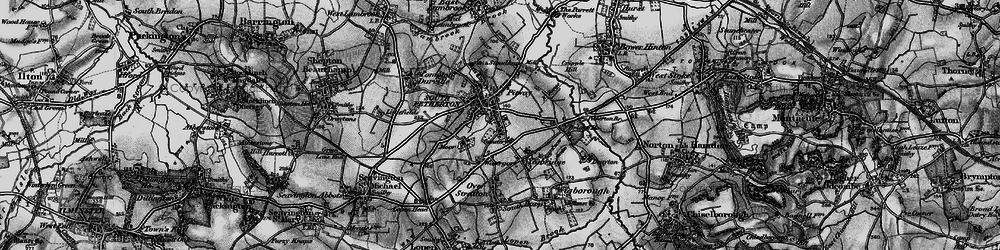 Old map of South Petherton in 1898