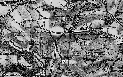 Old map of South Petherwin in 1895
