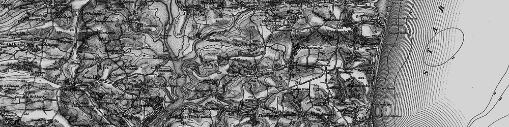 Old map of South Pool in 1897